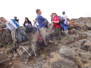 Hiking on the Machame Trail