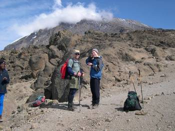 Hiking on Mt Kilimanjaro