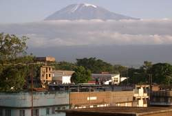 Mt Kilimanjaro from Moshi